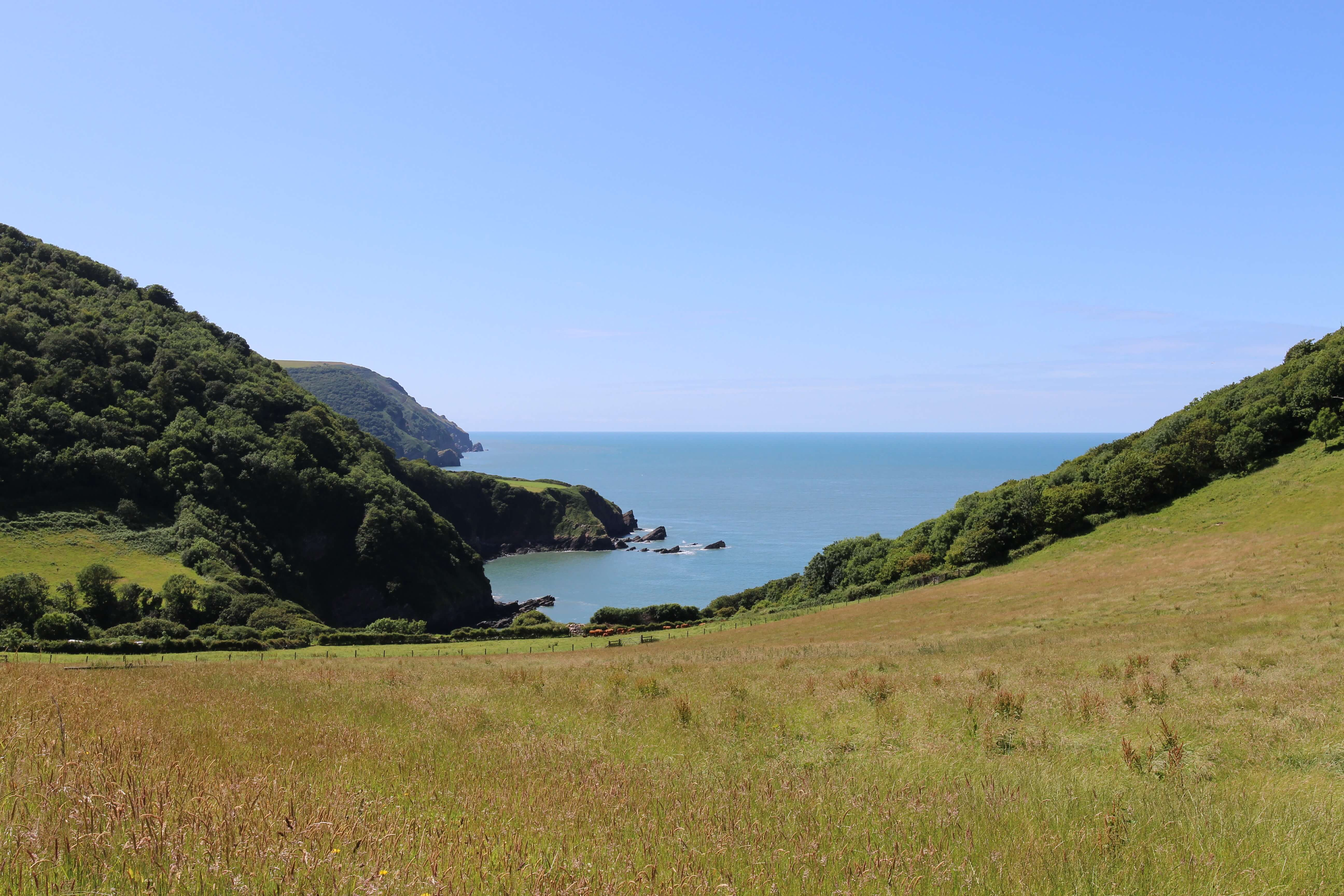 Beautiful view from the coast road heading towards Woody Bay