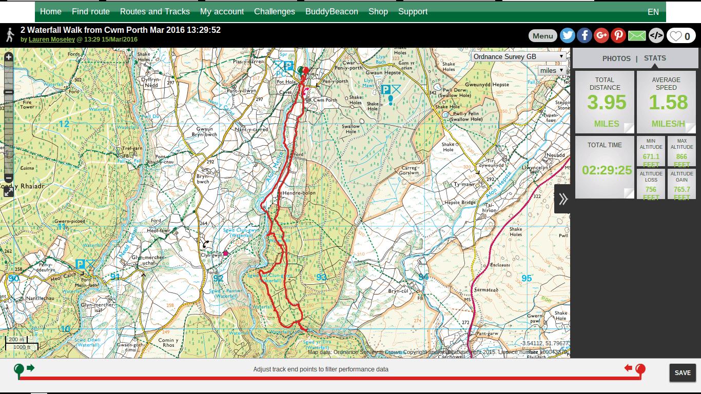 Two Waterfall Trail, Cwm Porth