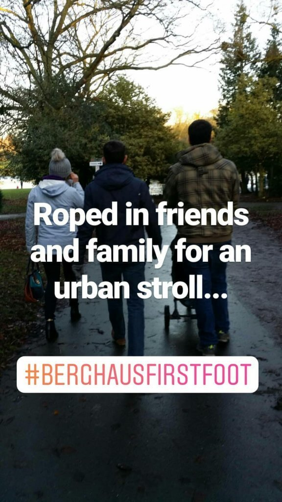 Starting 2018 off on the right foot with #BerghausFirstFoot